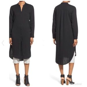 Eileen Fisher Mandarin Collar Shirtdress -B30